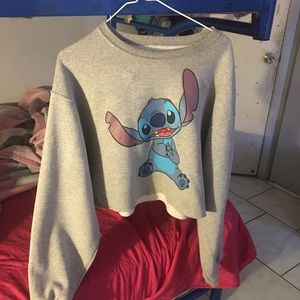 stitch cropped hoodie